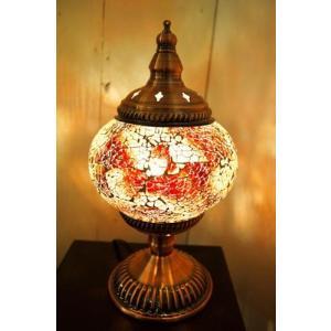 テーブルライト アンティーク おしゃれ 卓上ライト (モザイクガラスのアラビアンランプ(3色) 間接照明 スタンドライト アジアン照明 インド エスニック|yayapapus-y