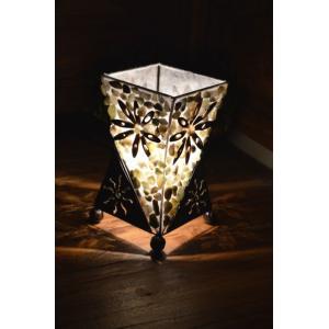間接照明 スタンドライト ♪アイアンと石のランプSS♪ アジアン照明 バリ おしゃれ フロアスタンド エスニック|yayapapus-y