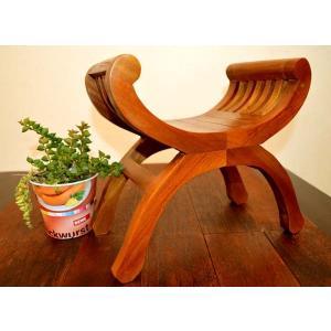 アジアン家具 木製 バリ ♪ミニカルティニオブジェ♪ おしゃれ インテリア エスニック イス オブジェ 花台 yayapapus-y