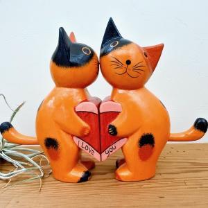 アジアン エスニック雑貨 置物 オブジェ 猫 ネコ 30%OFF SALE セール 結婚祝い ラグジ...