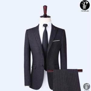 メンズ スーツ 上下セット 2つボタン ストライプ 紳士服 ジャケット パンツ スラックス セットアップ テーラード フォーマル セレモニー 出張 就活|yayushop