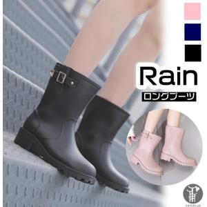 レインブーツ 雨靴 ブーツ レインシューズ 防水ブーツ ロング 女性用 梅雨対策 レディース ロングブーツ 雨具 農作業 長靴|yayushop