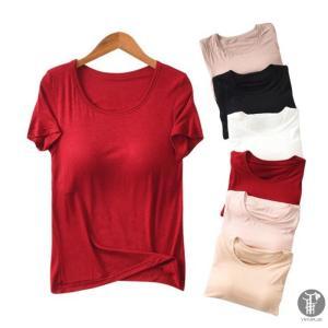 tシャツ 半袖 レディース 綿tシャツ 丸首 ルームウェアtシャツ シンプルベーシッ 無地 ゆったり ふんわり 代引不可|yayushop