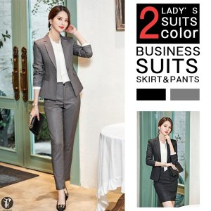 パンツスーツ スカートスーツ レディース セレモニースーツ ビジネス オフィス OL ママスーツ セットアップ 上下セット|yayushop