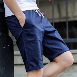 ボトムス 短パン ショートパンツ メンズ ハーフパンツ 膝上 ハーフ丈 カラーショーツ チノパン 7色 無地 ポケ付き 半ズボン カジュアル メール便限定 代引不可|yayushop