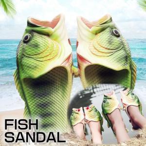 サンダル 魚 メンズ レディース ビーチサンダル 靴 さかな ペタンコ 歩きやすい フラット おもしろ 夏物 お揃い カジュアル おしゃれ ファッション|yayushop