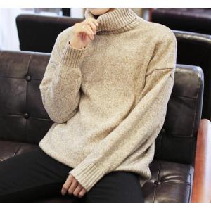 厚手セーター ニットウェア カットソー メンズ ハイネック プルオーバー ニット タートルネック 代引不可|yayushop