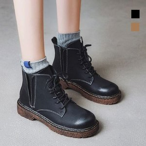 ワークブーツ ショートブーツ ブーツ レディース ハイカット カジュアル 靴 シューズ 歩きやすい 秋冬 定番 ブラック yayushop
