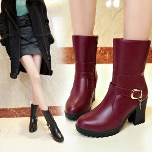 ブーツ レディース レディースブーツ ショートブーツ 太ヒール 厚底 歩きやすい 疲れにくい 美脚ブーツ yayushop