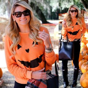 ハロウィン Tシャツ カボチャ 長袖Tシャツ ロングTシャツ トレーナー クルーネック 薄手 レディース おもしろ かぼちゃ 笑うカボチャ 代引不可 yayushop