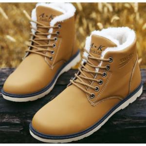 メンズブーツ 裏起毛 防寒靴 カジュアルブーツ 滑り防止 ブーツ スノーブーツ メンズ 保温 暖かい...