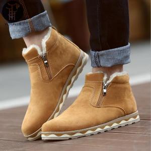 スノーブーツ 裏起毛 ワークブーツ メンズ ショートブーツ サイドゴアブーツ 防寒靴 ボア付き カジュアルブーツ yayushop