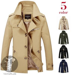 ビジネスコート メンズ 大きいサイズ トレンチコート コート スリムコート ビジネスコート 通勤コート|yayushop