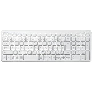 エレコム キーボード ワイヤレス (レシーバー付属) パンタグラフ コンパクトキーボード ホワイト TK-FDP099TWH ybd