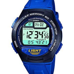 [カシオ] 腕時計 スポーツギア LAP MEMORY 60 W-734J-2AJF ブルー|ybd