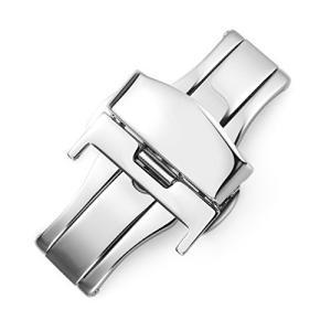 Nywing Dバックル10mm 12mm 14mm 16mm 18mm 20mm 22mmスチール腕時計バンドプッシュ式Dバックル 時計尾錠 時計両開き/観|ybd