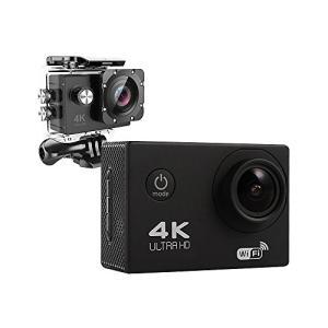 【高画質フルHD】アクションカメラ WiFi搭載 4K ブラック ybd