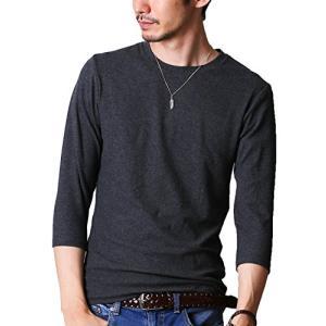 FTELA(フテラ) メンズ シャツ カットソー Tシャツ ロンTクルーネック 丸首 Vネック 長袖 7分袖 半袖 無地 シンプ|ybd