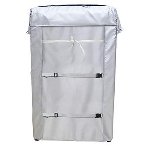 [Mr.You]洗濯機カバー 【デザイン改良】 4面包みデザイン シルバー 台風対応 防水 防塵 日焼け止め バックルつき( ybd