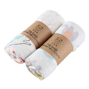 おくるみ ガーゼ ベビーブランケット Mizuri 赤ちゃん プレイマット 綿100% ダブルガーゼ 人気 可愛い 保温 吸水 ybd