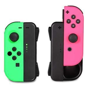 ジョイコン Joy-Con 充電グリップ Nintendo Switch用 プレイしながら充電可能 KINGTOP ニンテンドー スイッチ 充電ホル ybd