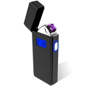 電子ライター USBライター 点煙回数表示 プラズマ 充電ライター 葉巻ライター 防風 軽量LED 誕生日 プレゼント|ybd