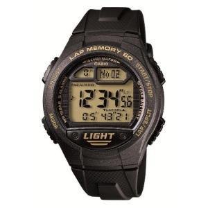 [カシオ] 腕時計 スポーツギア LAP MEMORY 60 W-734J-9AJF ブラック|ybd