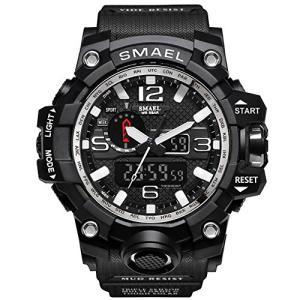 腕時計 メンズ SMAEL腕時計 メンズウォッチ 防水 スポーツウォッチ アナログ表示 デジタル クオーツ腕時計 多機|ybd