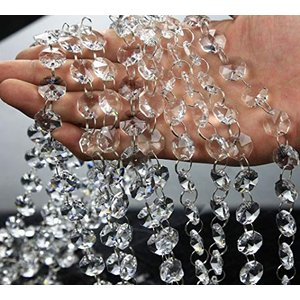 AFKshop 八角珠ビーズカーテン クリスタル 珠のれん 装飾 DIY 10本|ybd