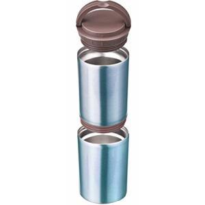 丸辰(Marutatsu) 缶・ペットボトル を 保冷 保温 真空二層 ステンレスポット ブルー (500ml缶・Petボトル・350ml缶2入|ybd
