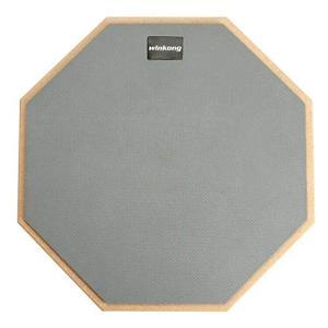 winkong ドラムパッド 2本ドラムスティック付き 12インチ 練習パッド グレー トレーニング ラバー 製 高弾 静音|ybd