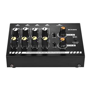 ammoon ミキサー コンパクトサイズ8チャンネルモノラル/ステレオオーディオサウンドライン(電源アダプタ付)|ybd