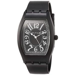 [フランク三浦]FRANKMIURA 腕時計 チープ三浦 量産型 日本製 日常生活防水 ウレタンベルト ブラック FCQ-001 メンズ|ybd