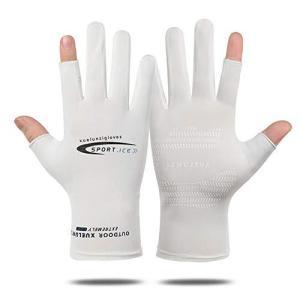 夏用 メンズ グローブ サイクルグローブ 冷感 手袋 UVカット 薄手 手袋 レディース メンズ グローブ 夏 運転用|ybd