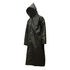 dgn*【レインコート】男女兼用 ブラック フリーサイズ 軽量薄型・EVA素材 アウトドア ポンチョ カッパ|ybd