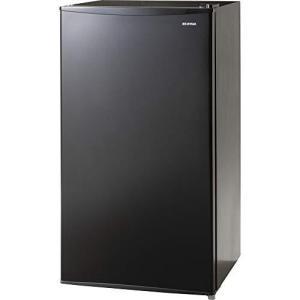 アイリスオーヤマ 冷蔵庫 93L 2ドア 右開き 静音 ノンフロン ブラック IRJD-9A-B ybd