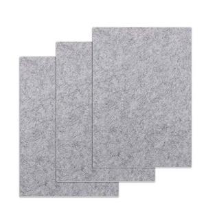 フェルトシート フェルトパッド 大判3021cm 厚さ6mm セルフ粘着 床のキズ防止 家具保護パッド 3枚入り (グレー)|ybd