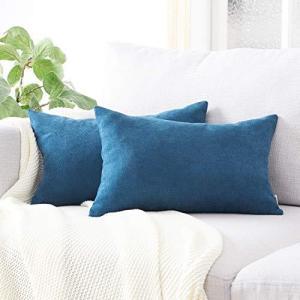 Topfinel クッションカバー 長方形 リネンっぽい 3050cm 北欧 おしゃれ 綿麻 無地 ソファ背当て 装飾枕カバー ネイ|ybd