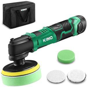 KIMO 12V ポリッシャー 100mm 充電式ポリッシャー コードレス 5段変速 研磨 軽量 車用 車磨き 家庭用 ホイール磨き|ybd