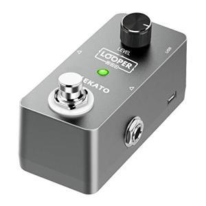 LEKATO ルーパー looper エフェクター ギターエフェクター 無制限のオーバーダブ 5分間ループ時間 USBケーブル付き|ybd