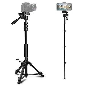 三脚 スマホ用 ビデオカメラ三脚 一脚可変式 クイックシュー式 カメラ 三脚 一脚 自立 水準器付き 3Way自由雲台 ybd