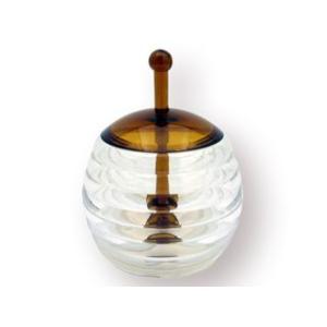 軽く扱いやすいはちみつ用の容器です。 蓋付きなのでほこりが入りにくいのが特徴です。 蓋とハニーディッ...