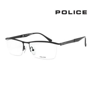 POLICE ポリス メガネ フレーム メンズ レディース 優雅な印象  伊達メガネ  V8973 ...