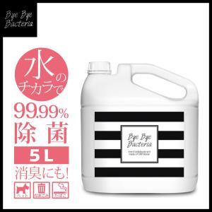 バイバイバクテリア(次亜塩素酸水)5L詰め替え用 ウイルス・菌を99.99%除去/消臭効果/品質保持...