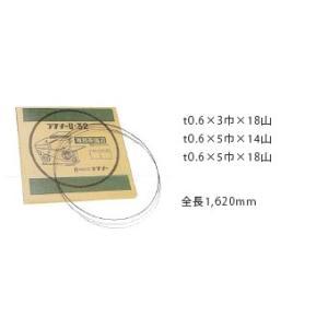 0.6x5x18P-1620mm ラクソー U−32用専用鋸刃(10本入) 0.6x5x18P 1620mm|ydirect
