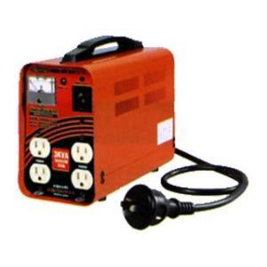 RTB-300D-100V 降圧専用トランス 屋内型 単巻トランス<連続定格>安全ブレーカ付(出力100Vのみ)/リングトランス  日動工業 【送料無|ydirect