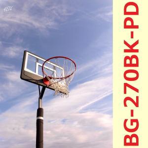 レイアップの練習もOK 透明ポリカーボネート、ポールパッド付、オレンジリング、極太ネット {ポイント10倍/送料無料} バスケットゴール BG-270BK-PD|yell-store