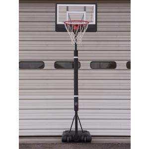 訳あり品 レイアップの練習もOK 透明ポリカーボネート ポールパッド付 オレンジリング 極太ネット バスケットゴール BG-270BK-PD yell-store