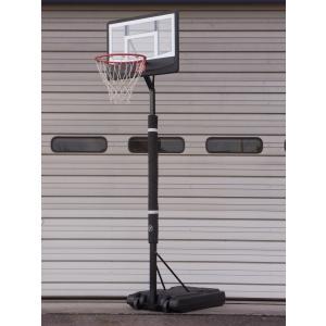 レイアップの練習もOK 透明ポリカーボネート、ポールパッド付、オレンジリング、極太ネット {ポイント10倍/送料無料} バスケットゴール BG-270BK-PD|yell-store|04