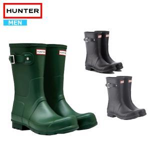 ハンター レインブーツ メンズショート ブーツ 長靴 雨 防水 HUNTER MENS ORIGIN...